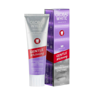 Зубная паста Global White Gentle Whitening With Natural Papaya Enzyme