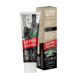 Зубная паста Global White Extra Whitening With Active Oxygen And Charcoal