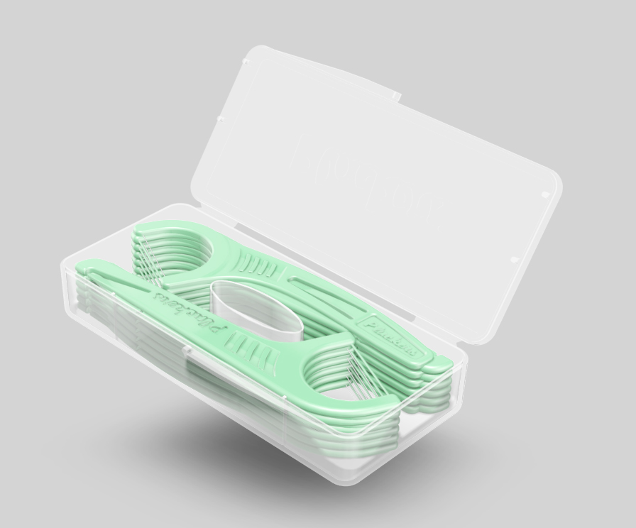 Флоссер Plackers Micro Mint Travel Case