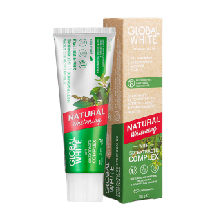 Зубная паста Global White Natural Whitening With Six Extracts Complex
