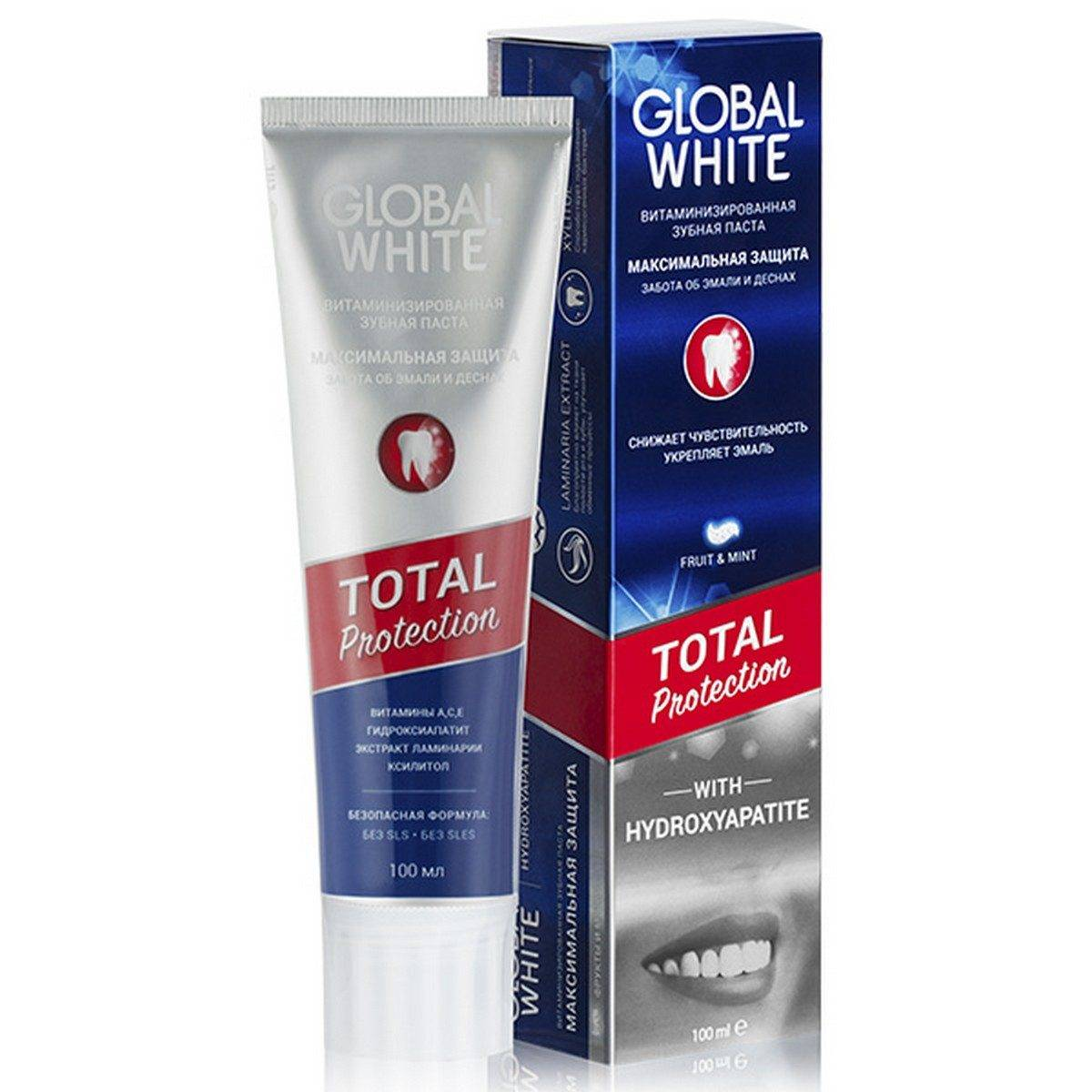 Зубная паста Global White Total Protection