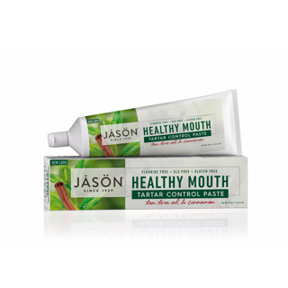 Гелевая зубная паста Jason Healthy Mouth Tartar Control Paste Tea Tree Oil & Cinnamon