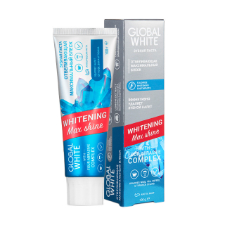 Зубная паста Global White Whitening Max Shine
