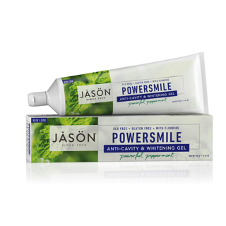 Зубная паста Jason Powersmile Anti-Cavity & Whitening Gel Powerful Peppermint с фтором
