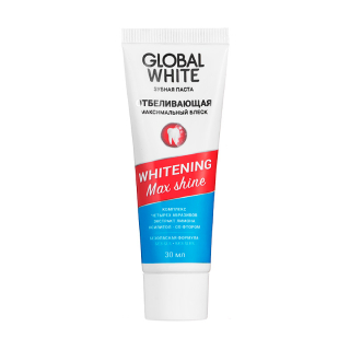 Зубная паста Global White Whitening Max Shine, 30 мл