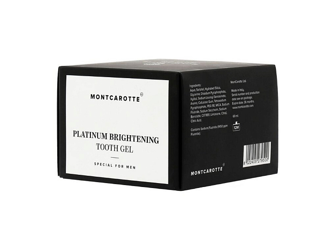Мужской гель для зубов Montcarotte Platinum Brightening Tooth Gel