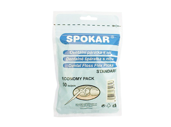 Флоссер Spokar Dental Floss Flex Picks, 50 шт